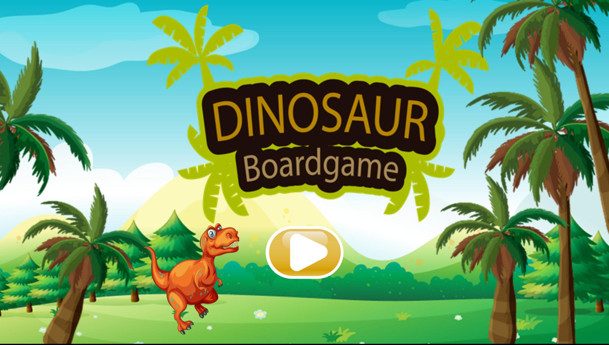 Dinosaur Board Game Start Screenshot.