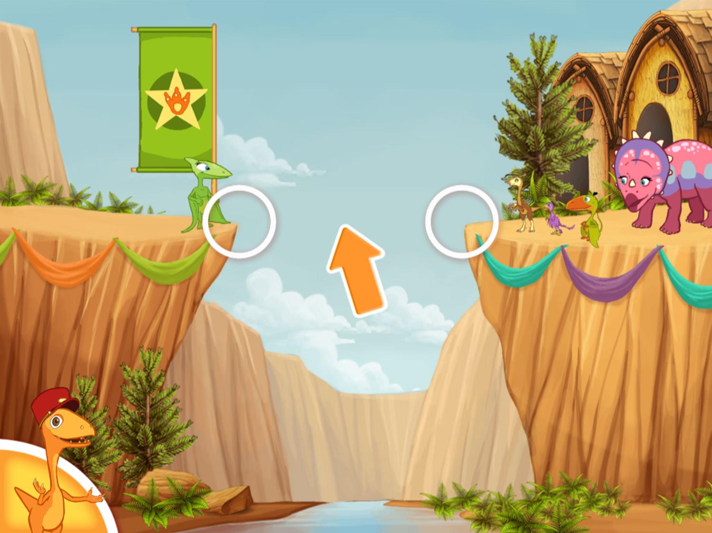 Dinosaur Train Bridge Builder Game How To Play Screenshot.