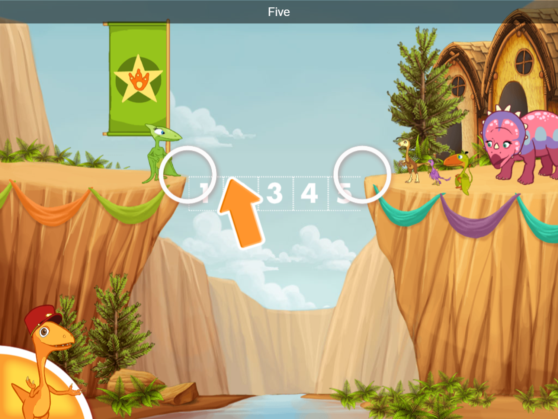 Dinosaur Train Bridge Builder Game Instruction Screenshot.