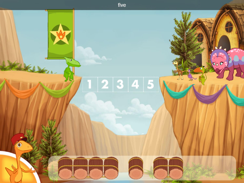 Dinosaur Train Bridge Builder Game Play Tips Screenshot.
