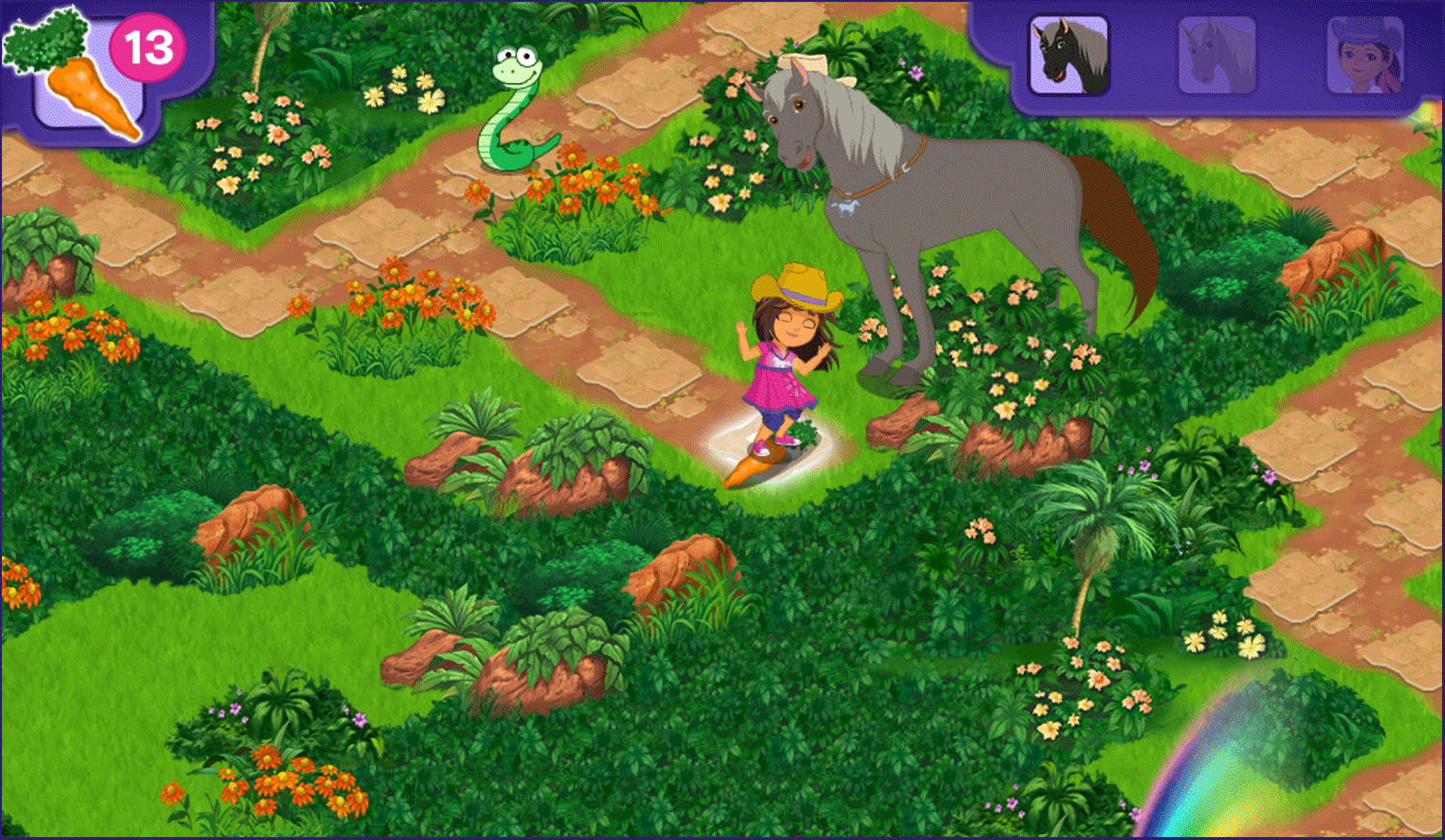 Dora and Friends Legend of the Lost Horses Game Play Screenshot.