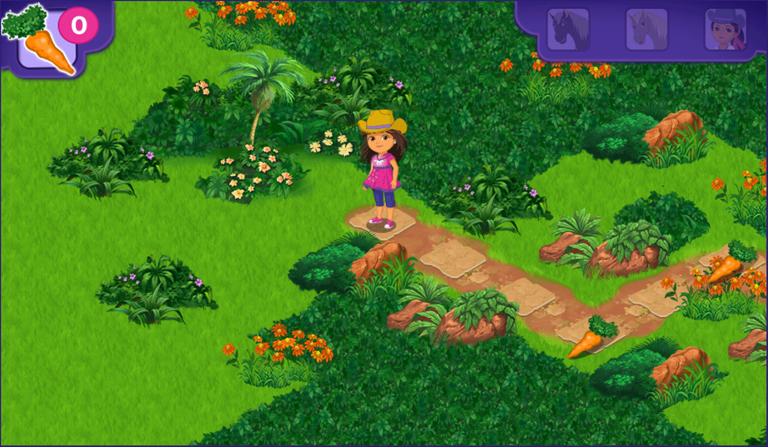 Dora and Friends Legend of the Lost Horses Game Start Screenshot.