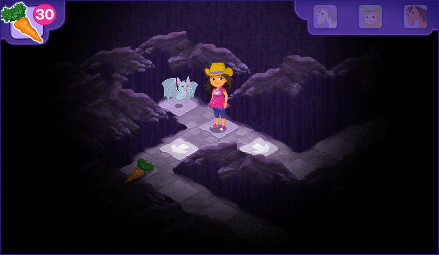 Dora and Friends Legend of the Lost Horses Game Second Level  Screenshot.