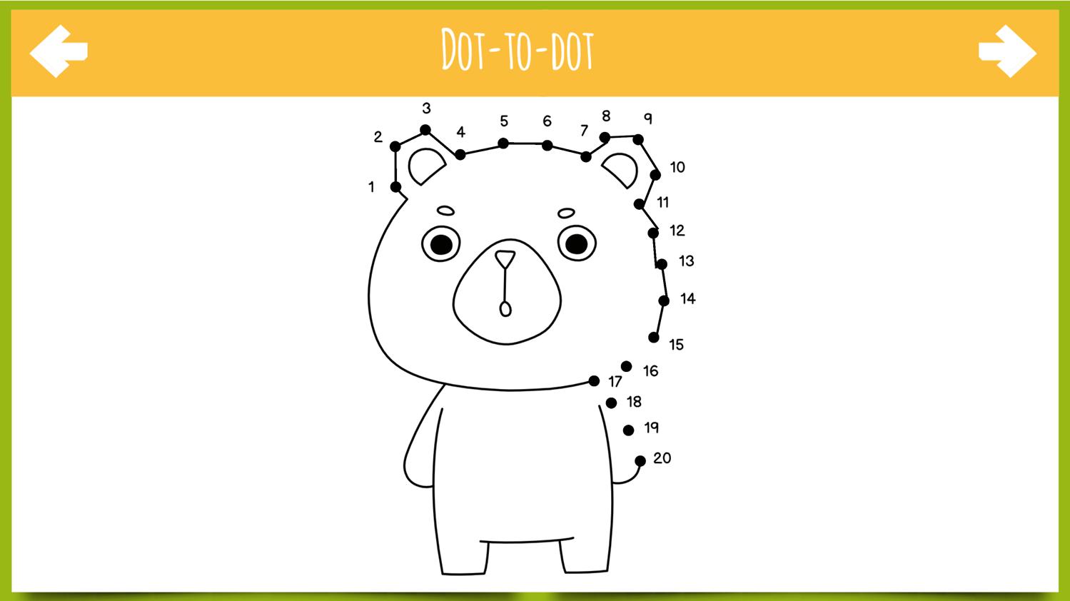 Dot to Dot Animals Game Screenshot.