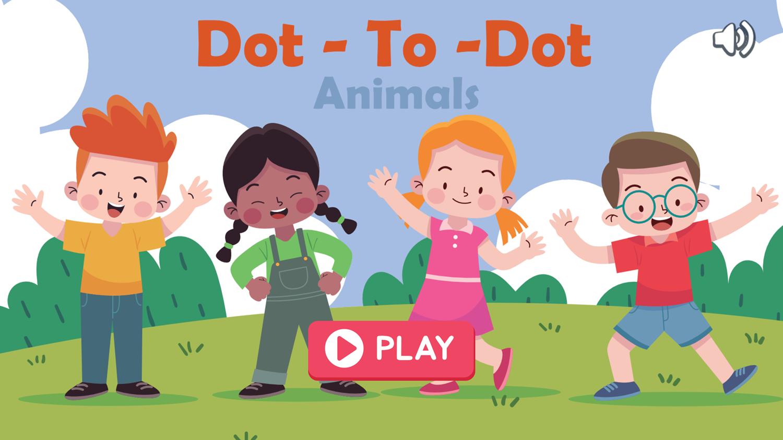 Dot to Dot Animals Game Welcome Screen Screenshot.