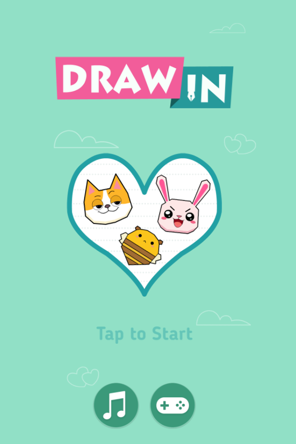 Draw In Game Welcome Screenshot.