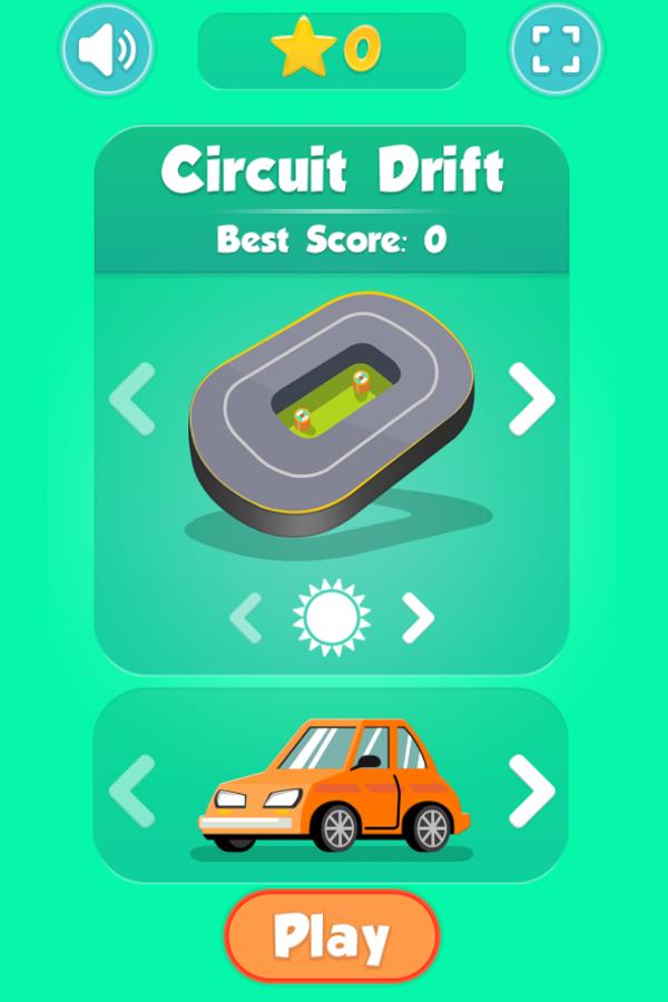 Drifter Game Welcome Screenshot.