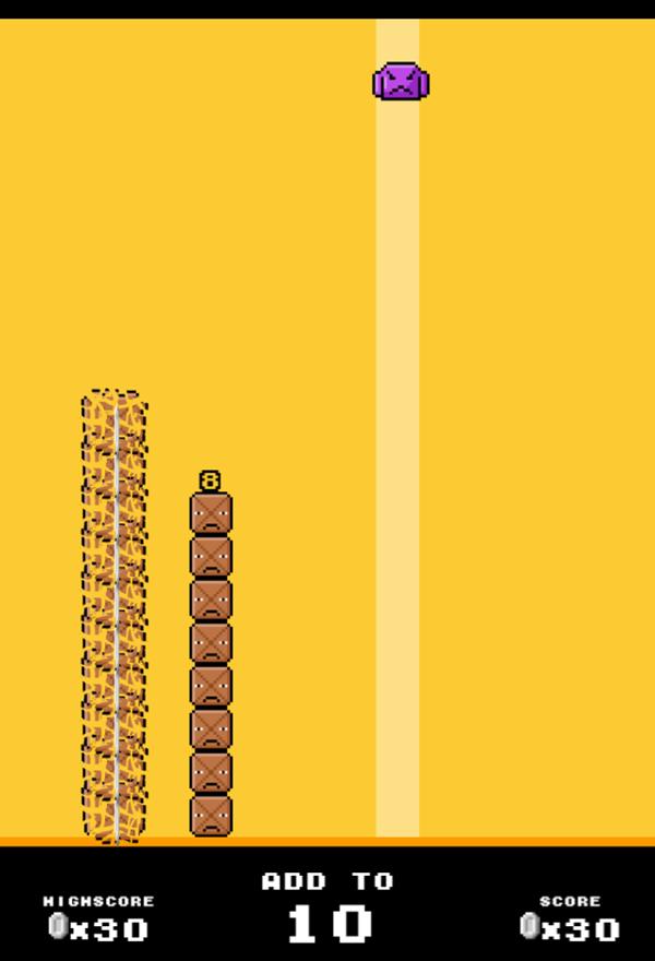 Drop Sum Game Play Screenshot.