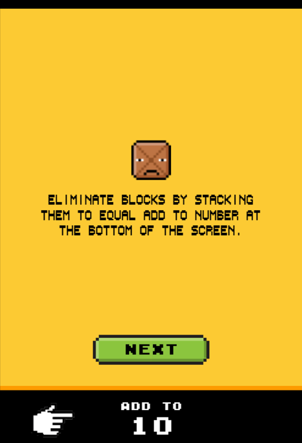 Drop Sum Game How To Play Screenshot.