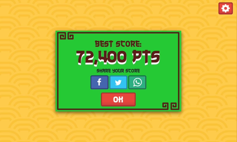 Drum Beats Game Score Screenshot.