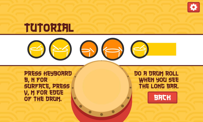 Drum Beats Game Tutorial Screenshot.