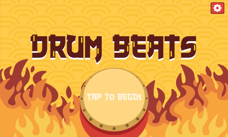 Drum Beats Welcome Screen Screenshot.