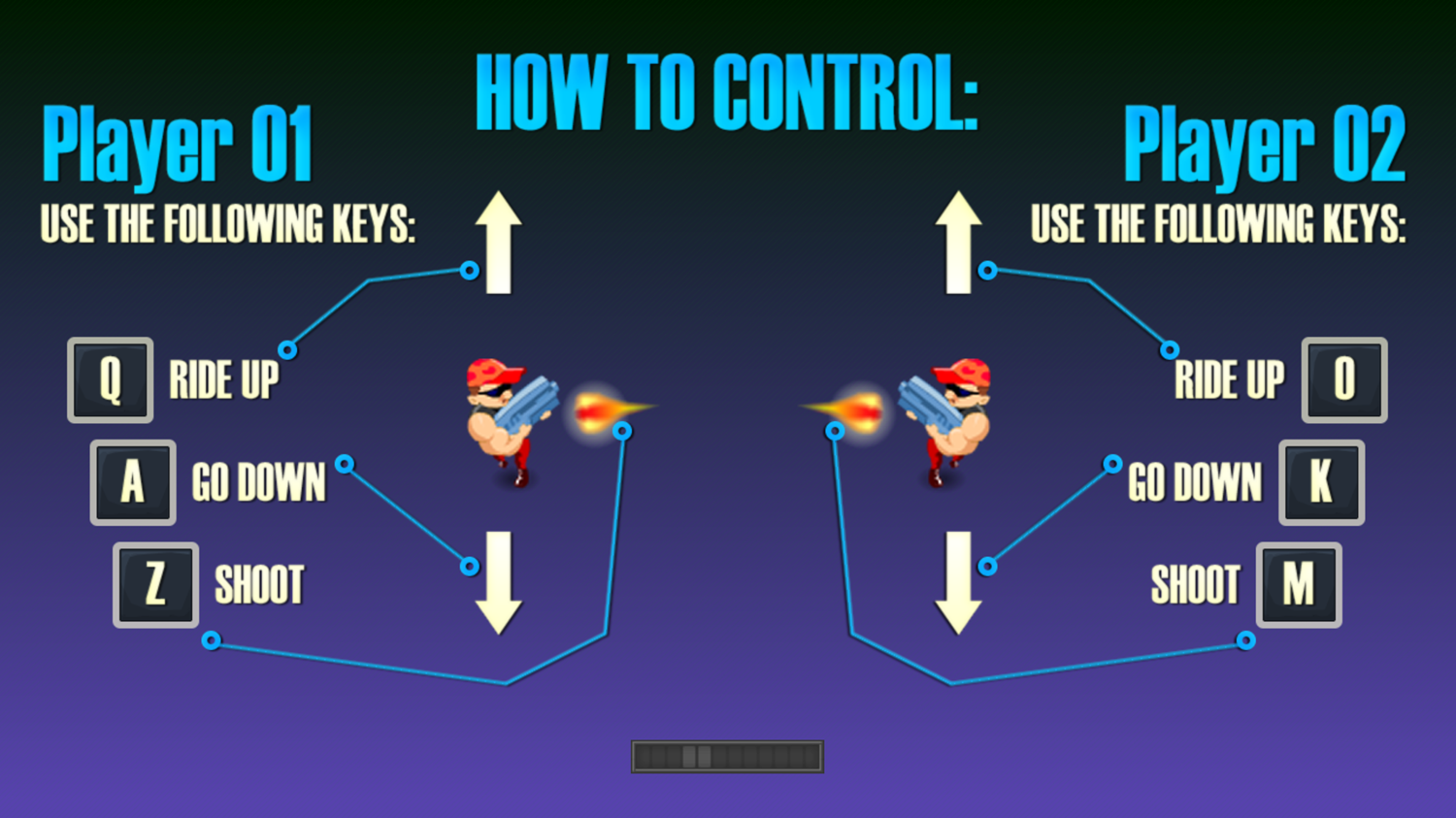 Dual With Death Game Controls Screenshot.