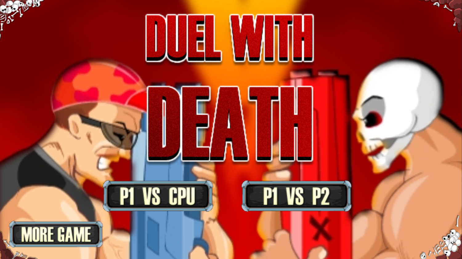 Dual With Death Game Welcome Screen Screenshot.