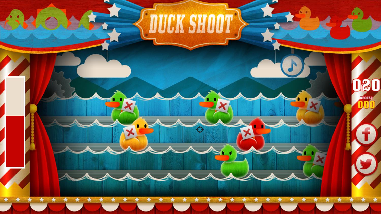 Duck Shoot Game Screenshot.