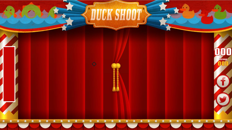 Duck Shoot Game Welcome Screenshot.