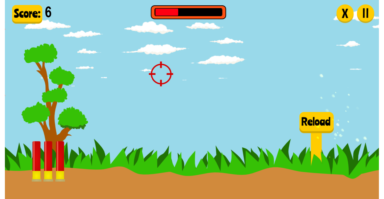 Duck Shooter Game Screenshot.