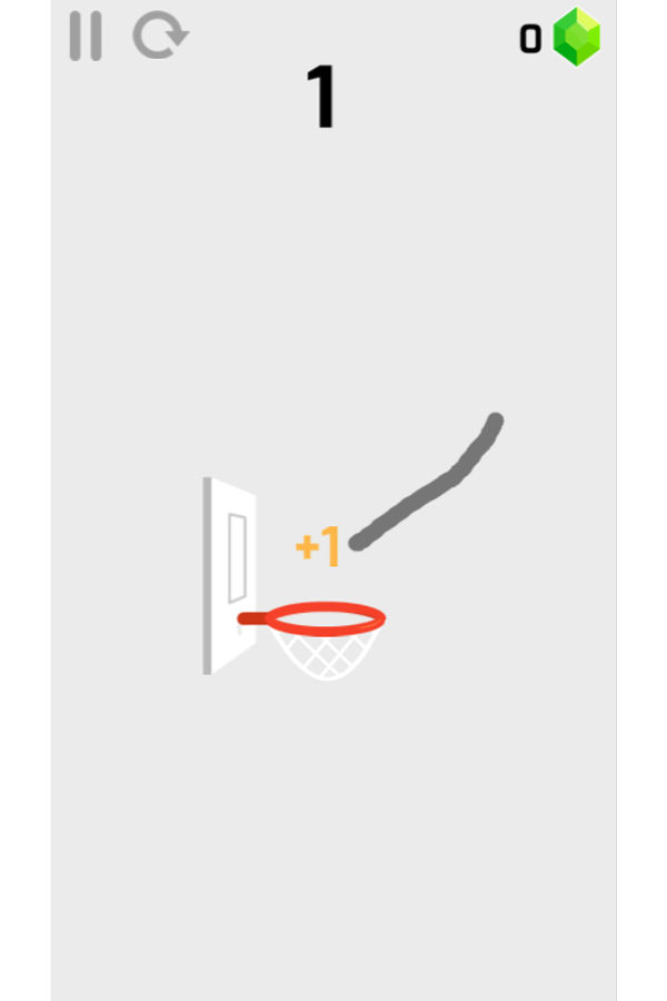 Dunk Line Game Screenshot.