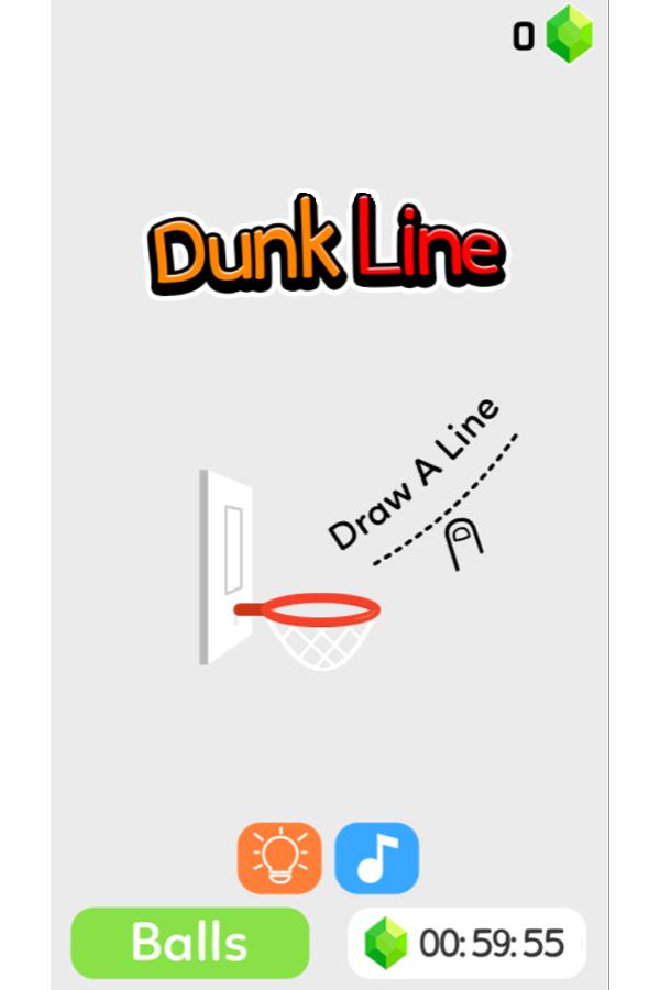 Dunk Line Game Welcome Screenshot.