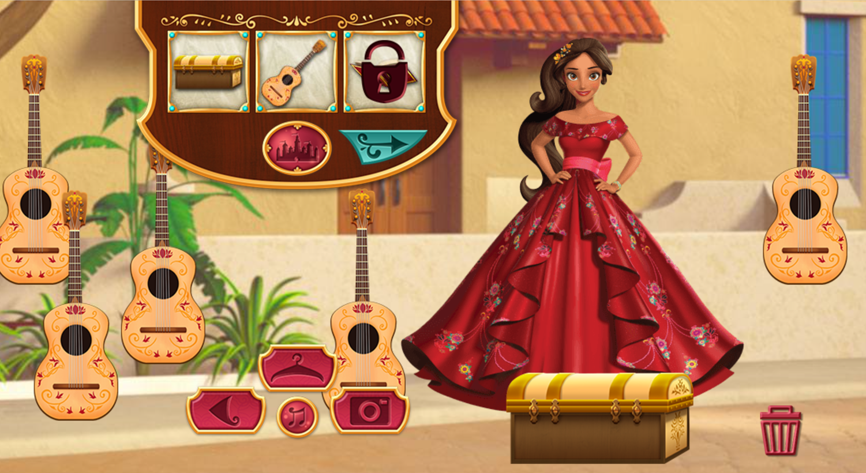 Elena of Avalor Adventures in Avalor Dress Up Game Screenshot.