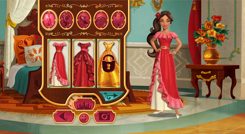 Elena of Avalor Adventures in Avalor Dress Up Screenshot.