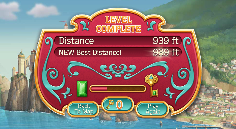 Elena of Avalor Adventures in Avalor Flying Game Over Screenshot.