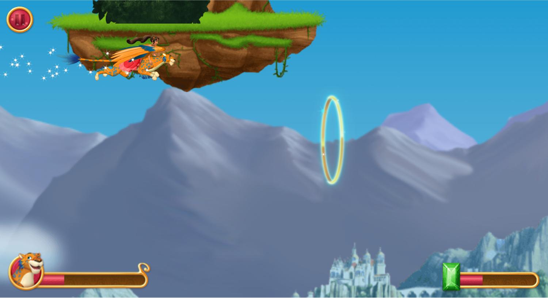 Elena of Avalor Adventures in Avalor Flying Game Screenshot.