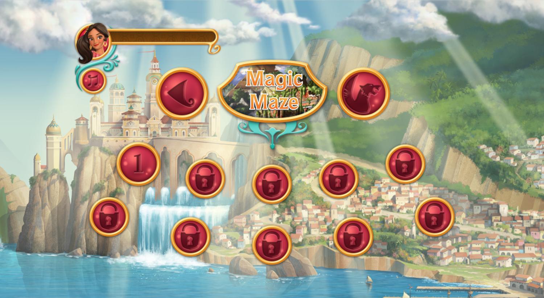 Elena of Avalor Adventures in Avalor Magic Maze Game Menu Screenshot.