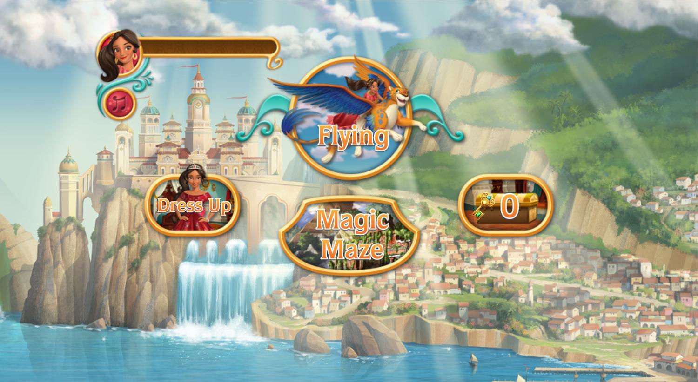 Elena of Avalor Adventures in Avalor Game Menu Screen Screenshot.