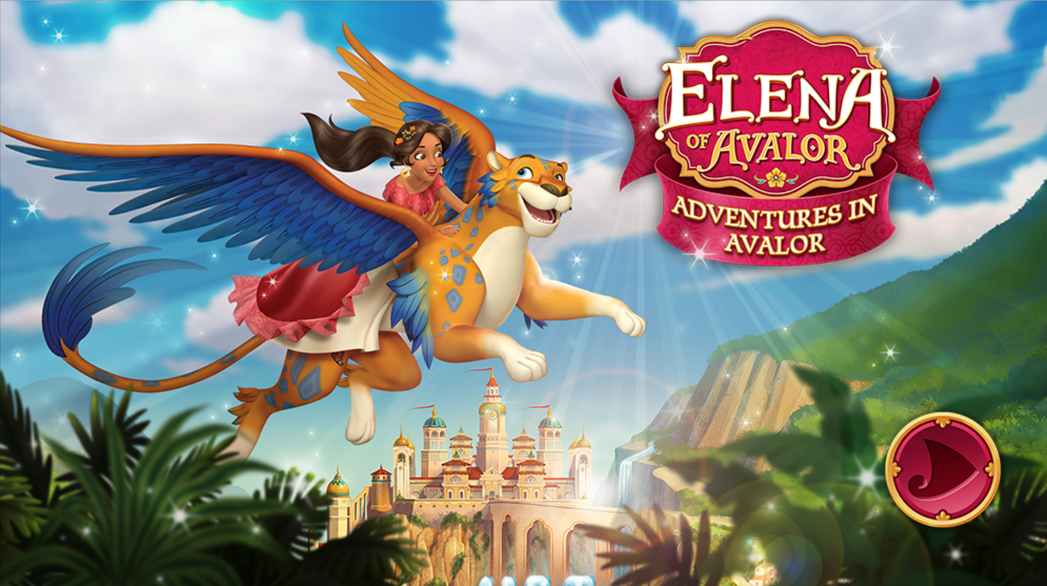 Elena of Avalor Adventures in Avalor Game Welcome Screen Screenshot.