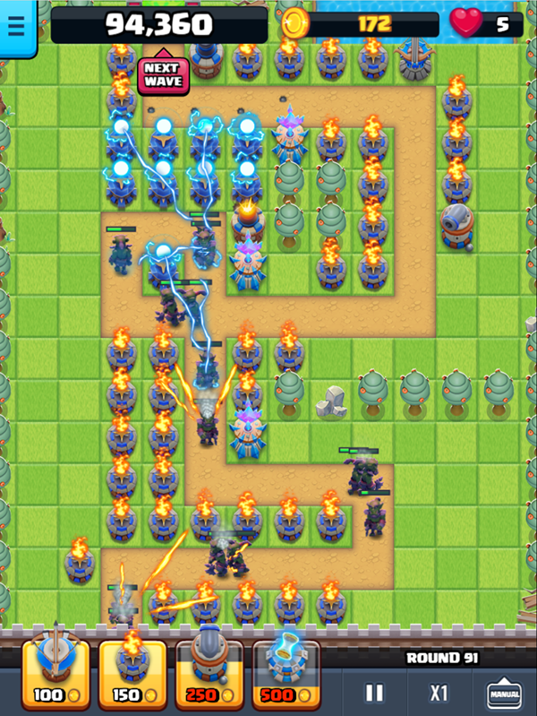 Endless Siege Tower Defense Gameplay Screenshot.