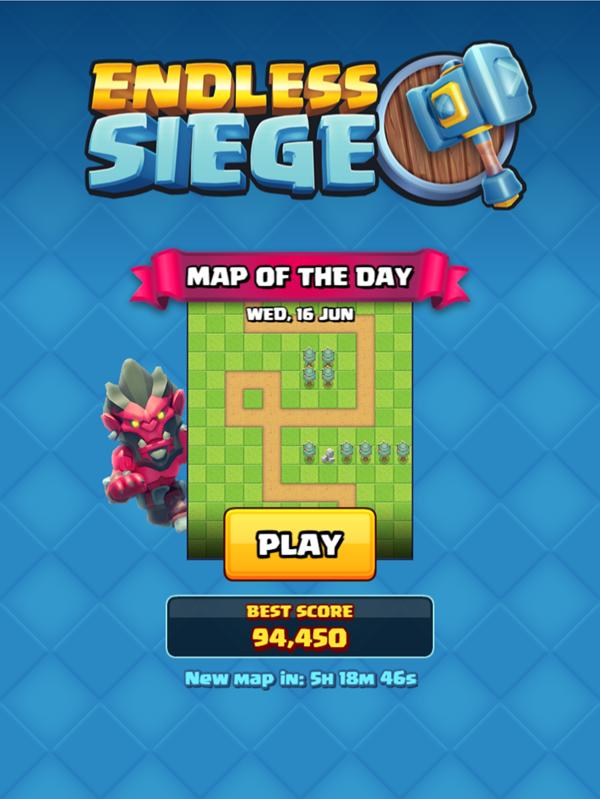 Endless Siege Tower Defense Welcome Screen Screenshot.