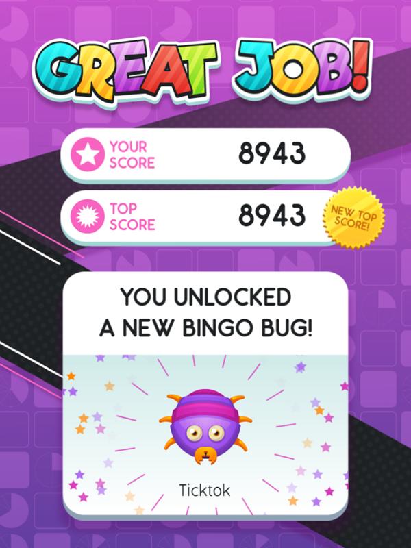 Equivalent Fractions Bingo Game Unlock Bug Screenshot.