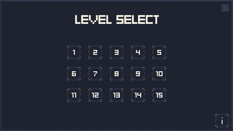 Escape Kid Game Level Select Screen Screenshot.