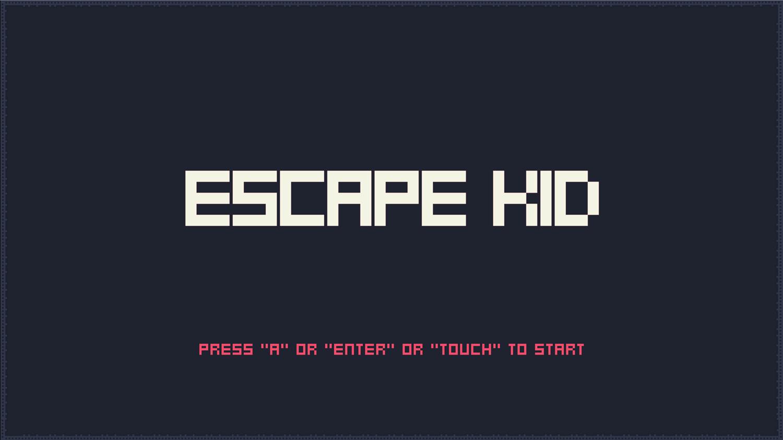 Escape Kid Game Welcome Screen Screenshot.