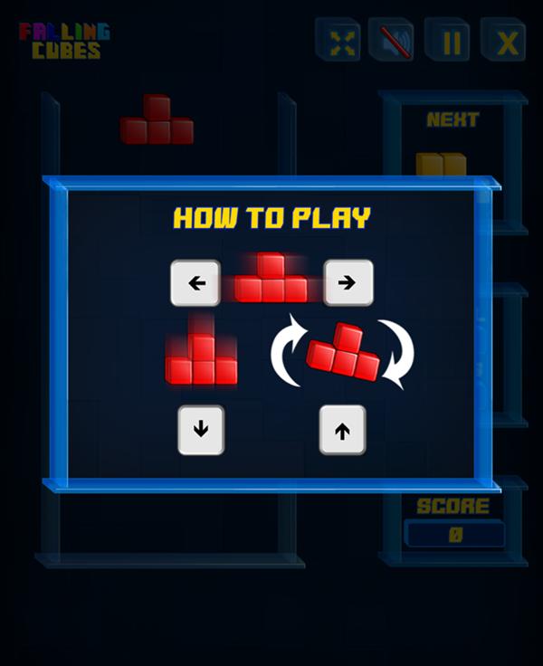 Falling Cubes Game Screenshot.