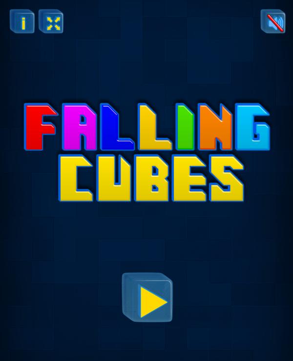 Falling Cubes Game Welcome Screenshot.