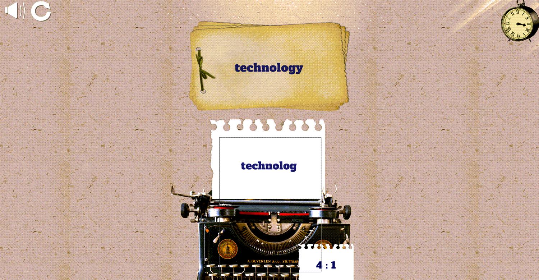 Fast Typer Game Screenshot.