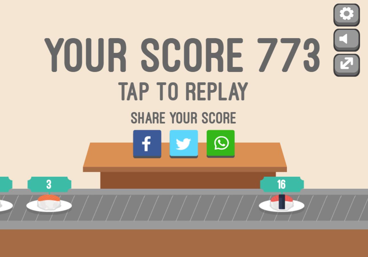 Feed Math Game Over Screenshot.
