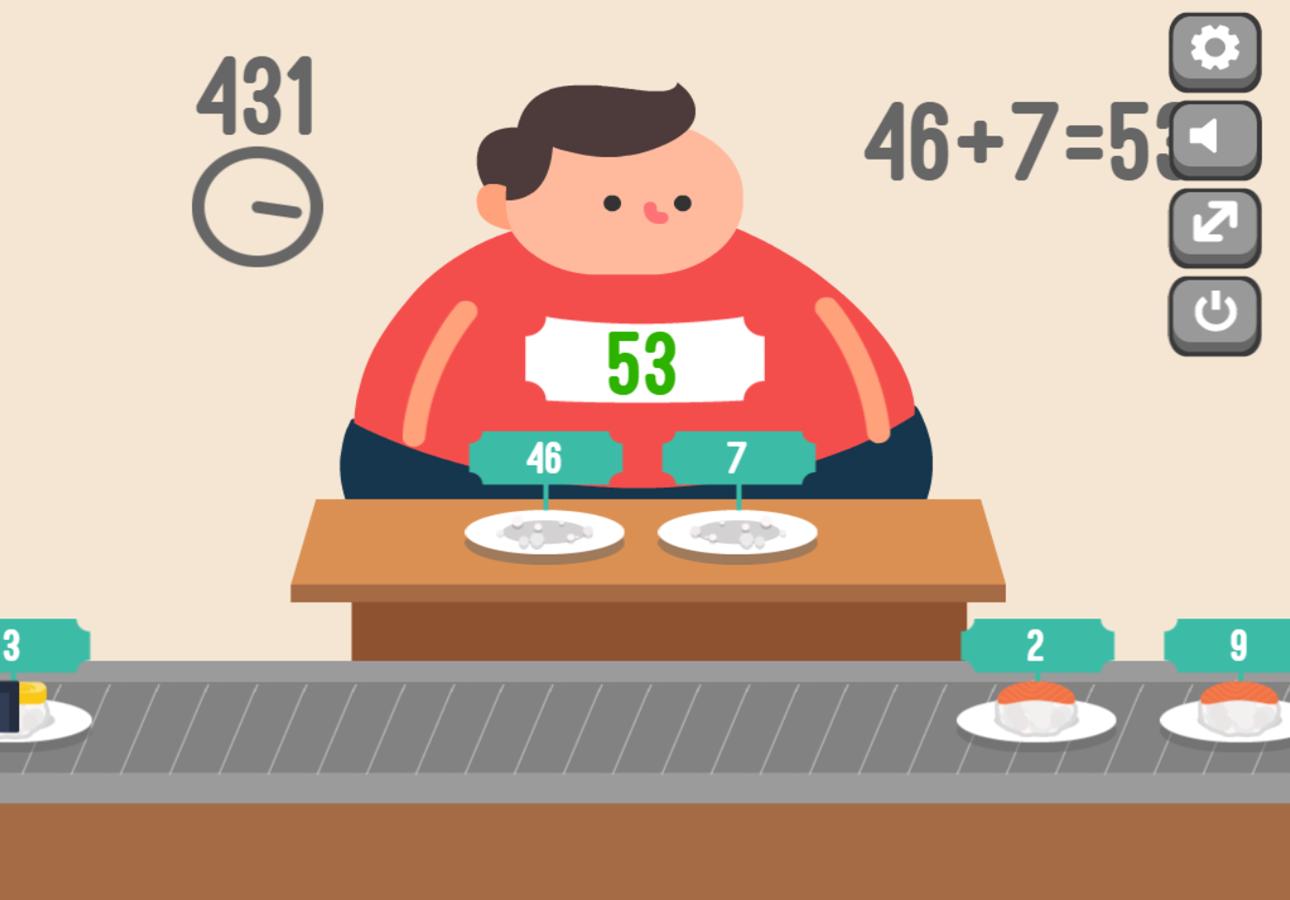 Feed Math Game Correct Answer Screenshot.