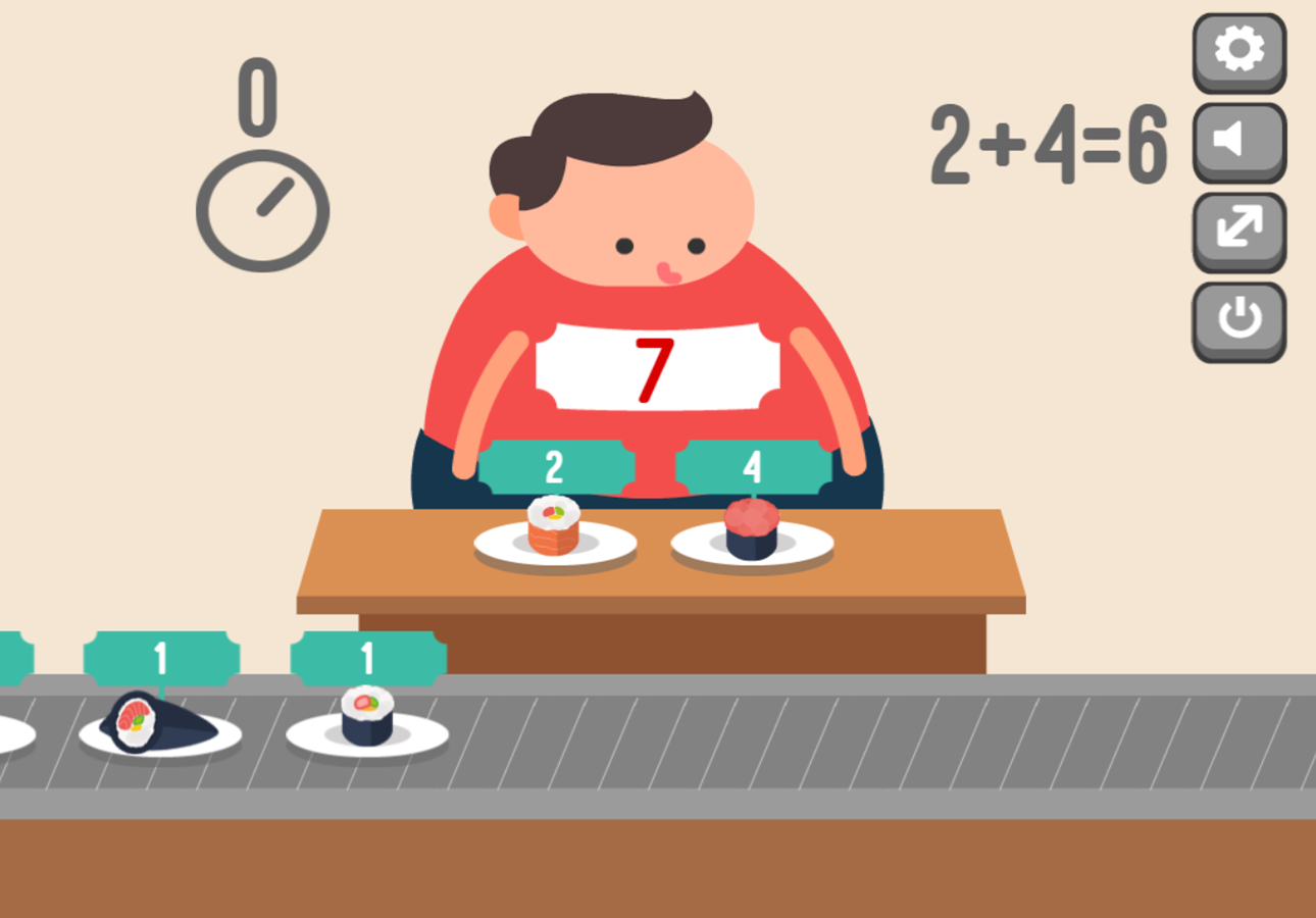 Feed Math Game Wrong Answer Screenshot.