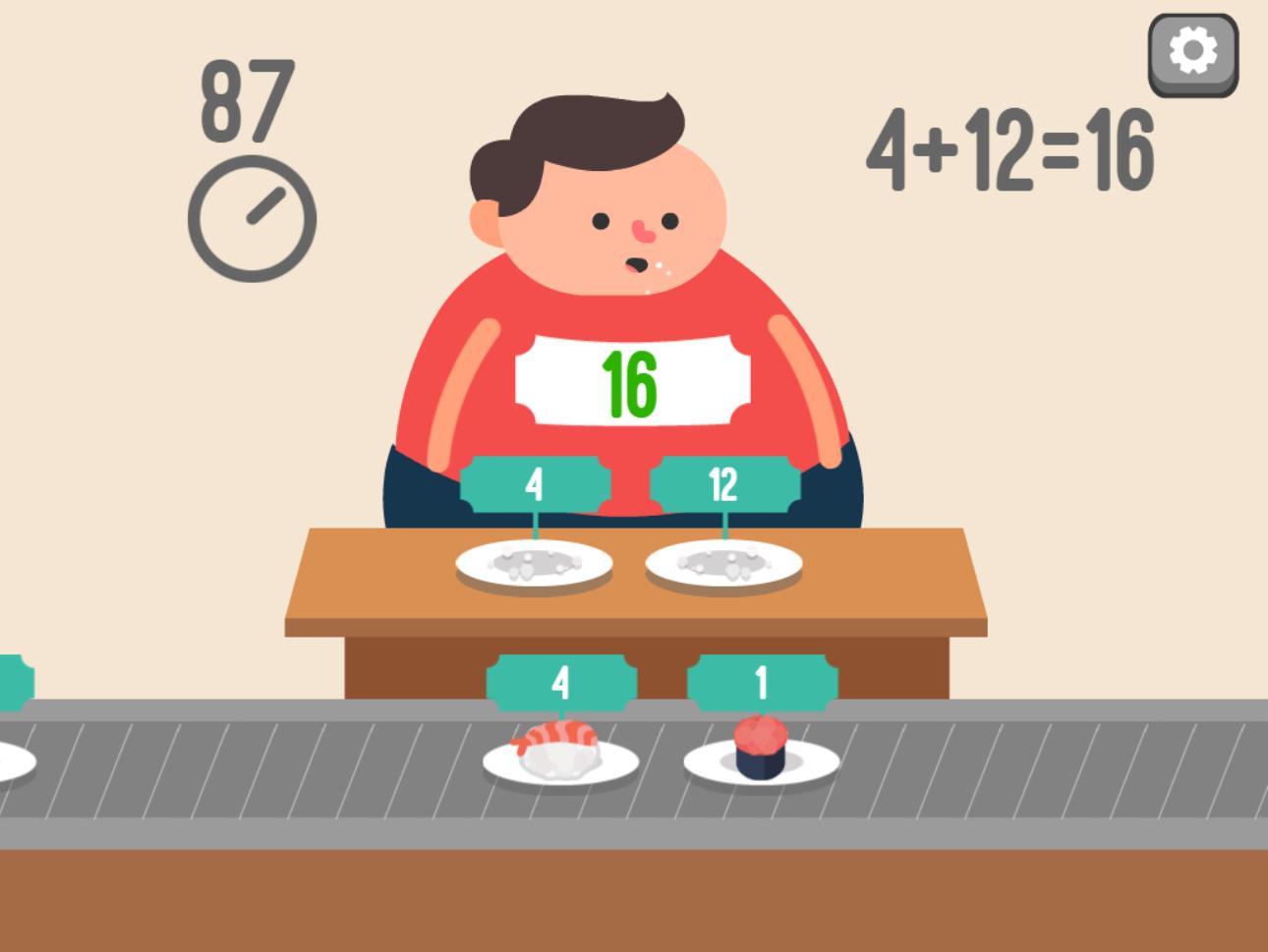 Feed Math Game Screenshot.
