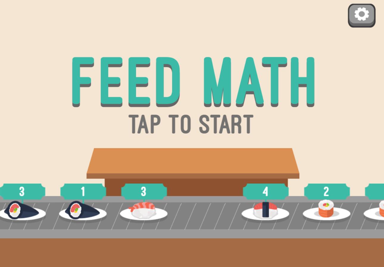 Feed Math Welcome Screen Screenshot.