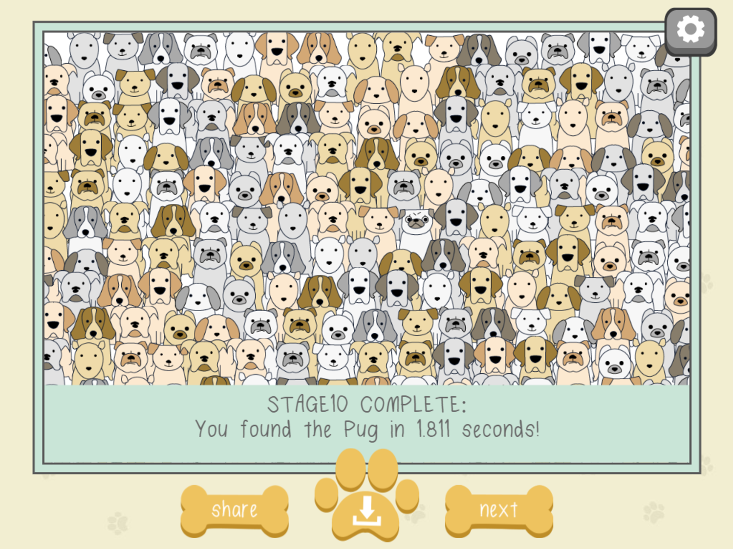 Find the Pug Stage 10 Screenshot.