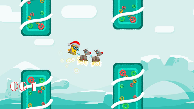 FlapCat Christmas Game Screenshot.