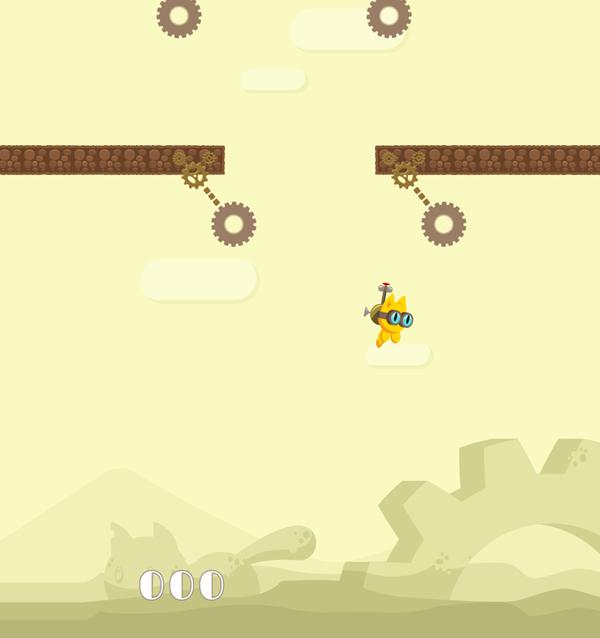 FlapCat Copters Game Screenshot.