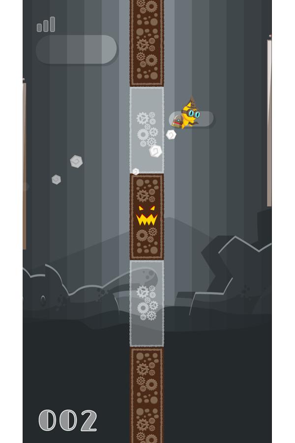 FlapCat Halloween Game Screenshot.