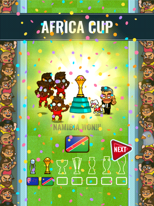 Flappy Foot Chinko Africa Cup Won Screenshot.