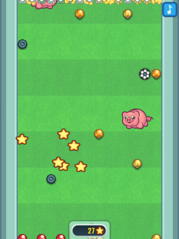 Flappy Foot Chinko Endless Bounce Game Play Screenshot.