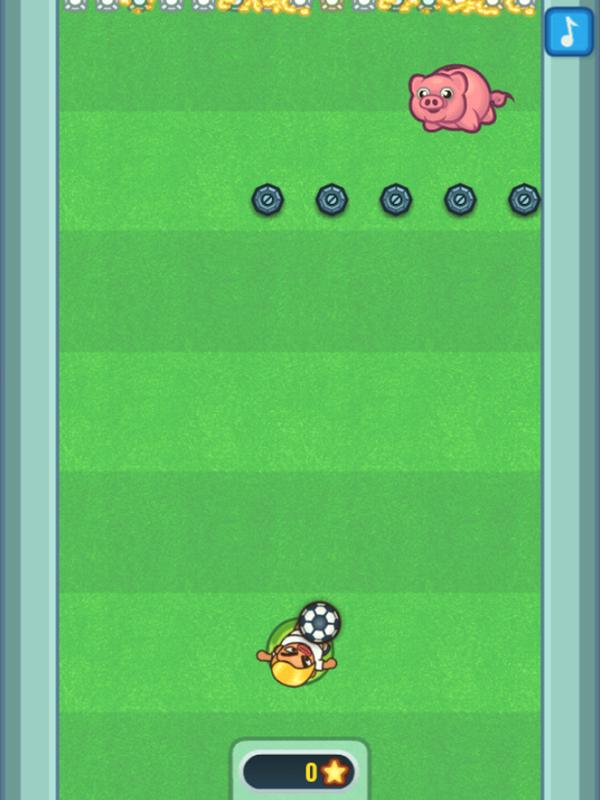 Flappy Foot Chinko Endless Bounce Game Start Screenshot.